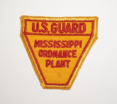 Mississippi Ordnance Plant Guard Patch WWII US Army P5046