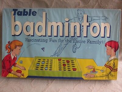 vintage 1950s Toltoys TABLE BADMINTON classic  GAME Box COMPLETE
