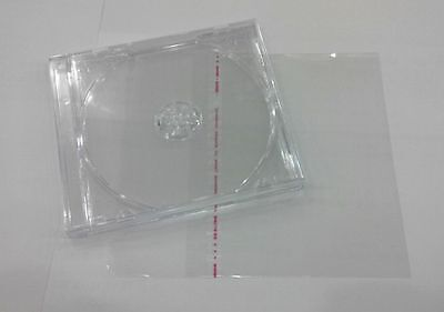Standard Jewel Case Clear Tray  CD DVD Blu Ray 1 Disc + 1 PLASTIC OPP BAG SLEEVE