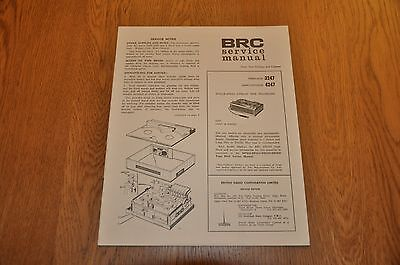Ferguson 3247 Marconiphone 4247 1 Speed 4 Track Tape Recorder Service Manual.