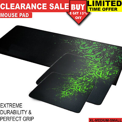 Small Medium Extra Large XL Mousepad Game Laptop Computer Keyboard Mouse Pad Mat