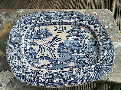 Antique T. Maling Willow Pattern Plate