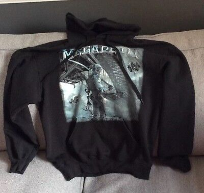 MEGADETH HOODIE B PRINT TOUR DATES iron maiden Metallica