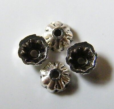 300pcs 4x2mm Metal Alloy Spacer Bead Caps - Antique Silver