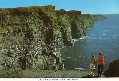 THE CLIFFS OF MOHER CO. CLARE IRELAND IRISH POSTCARD by CARDALL LTD No. 299