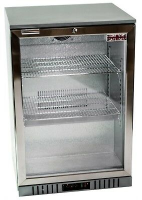 Commercial Single 1 Door Bar Bottle Beer Cooler Fridge Stainless Steel Finish