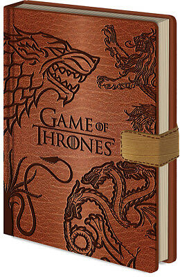 Game Of Throne Sigils Embossed Premium A5 Notebook Bnip Officially Licensed