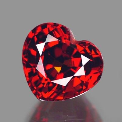 1.37cts Natural Loose Gemstones Heart Mandarin Red Spessartite Garnet Free Ship