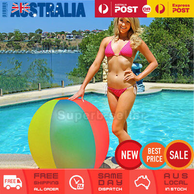 Jumbo Large Giant Beach Ball 122cm Inflatable Blow Up Pool Swimming Party Toy
