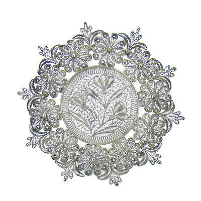 Sterling Filigree Dish with Intricate Details - 1910