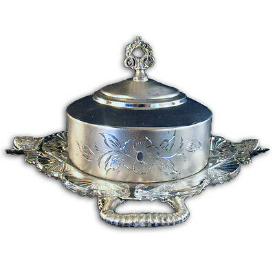 Silver Plated Victorian Butter Keeper - 1900's