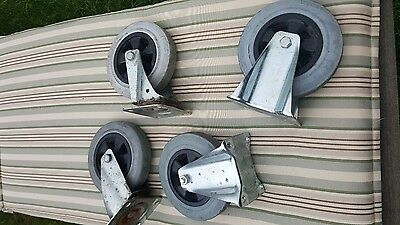 4x large industrial casters 8""