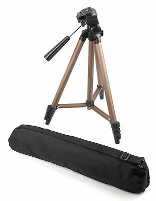 Adjustable Tripod & Carry Case For Use With Canon LEGRIA HF S21, XA10 Camcorder