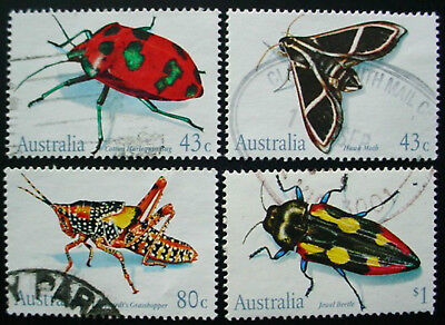 Australia 1991: Insects: Set Of 4 Used Stamps