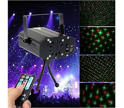 Sound-activated LED Laser Projector Stage Light DJ KTV Disco Party Lamp Remote