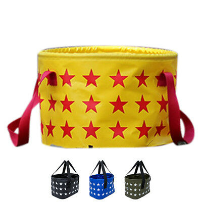 SS SAFEBET Five-pointed Star Portable Outdoor Folding Bucket 17L Color: black