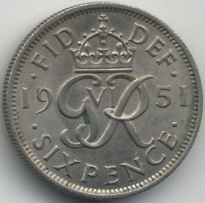 1951 George VI Sixpence***Collectors***