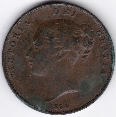 1854 Victoria One Penny***Collectors***