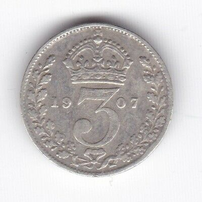 1907 Edward VII Threepence***Collectors***Silver***
