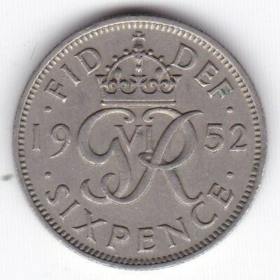1952 George VI Sixpence***Collectors***Key Date***