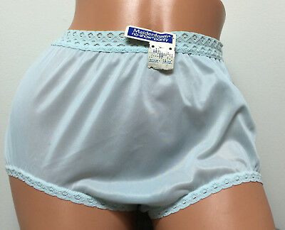 NWT Vintage Maidenform Blue Ultra Sheer Nylon Hi Waist Sissy Panties Briefs 6