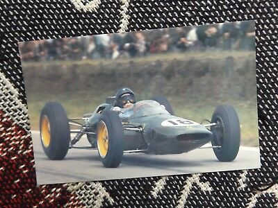 Motorsport Postcard - Jim Clark Lotus Climax Type 25 Reims 1963