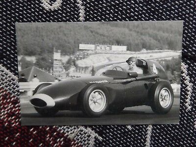 Motorsport Postcard - Tony Brooks Vanwall Spa-Francorchamps 1958