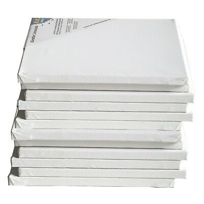 "12 PREMIUM STRETCHED BLANK CANVASES | ~ 12""x12"" 