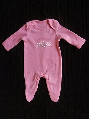 Baby clothes GIRL premature/tiny<6lb/2.7k mid-pink soft cotton babygrow SEE SHOP