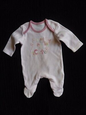 Baby clothes GIRL premature/tiny<6lb/2.7k pink butterflies soft cotton babygrow