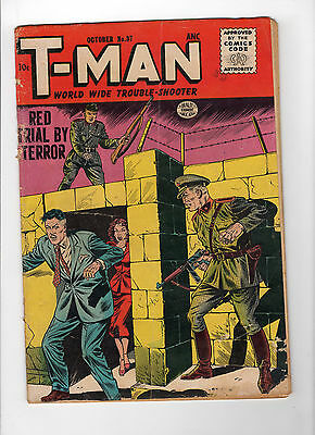 T-Man #37 (Oct 1956, Quality Comics) - Good-