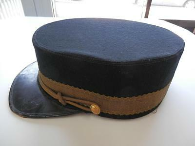 Pre WWI Canadian Merchant Navy 'Stewards' Cap Named Dominion Regalia Co Ltd