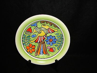 "Mexican Vintage 1970's FOLK ART CUERNAVACA BOWL Hand Painted Colorful "" Stu Ma """
