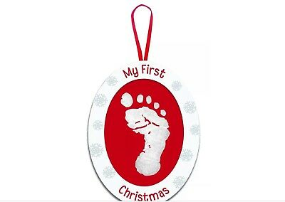 Tiny Ideas Baby's My First Christmas Photo Print Ornament White