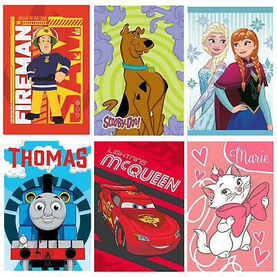 Fireman Sam Scooby Frozen Thomas Cars Marie Childrens Character Hand Towel 40x60