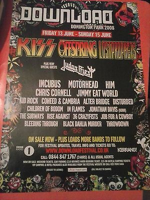 Download 2008 Kiss Offspring Judas Priest Chris Cornell Kerrang 1 Page Poster