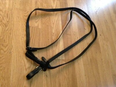 Black English Leather Full Size 5/8 Inch Reins