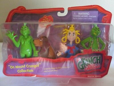 "Dr Seuss THE GRINCH THAT STOLE CHRISTMAS ""On Mount Crumpit"" Collection 4 Pack"