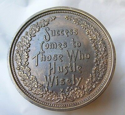 Vintage Success Comes To Those Who Hustle Wisely Brass Belt Buckle