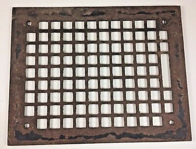 Ornate Antique Cast Iron Register Grate - Cover - Architectural Heating Vent Top