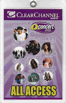 Jonas Brothers / One Republic / Maroon 5 - All Access - Laminated Backstage Pass
