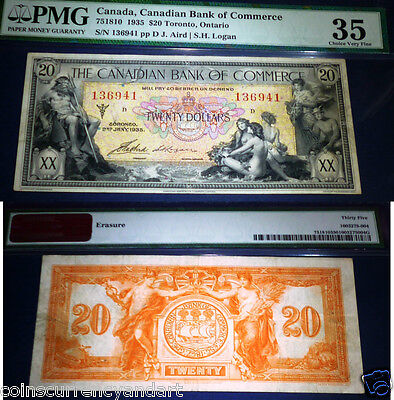 1935  $20 Canadian Bank of Commerce  PMG 35