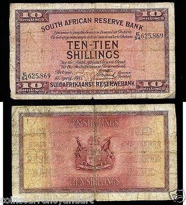 SOUTH AFRICAN RESERVE BANK 10 Shillings 1941