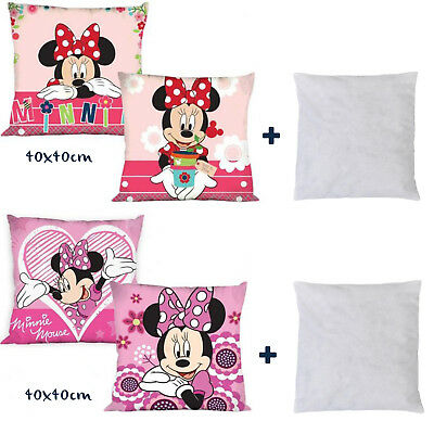Disney Minnie Mouse Girls Cartoon Character Two Sided Printed Cushion Cover+Pad