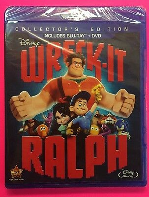 Wreck-It Ralph (Blu-ray+DVD, 2014; Collector's Edition) NEW; Authentic Disney