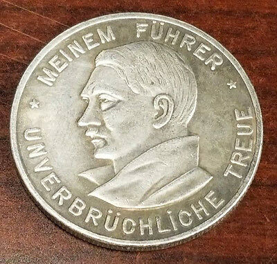 Nazi Third Reich Adolf Hitler coin 1934 Exonumia WW2 WWII German Germany