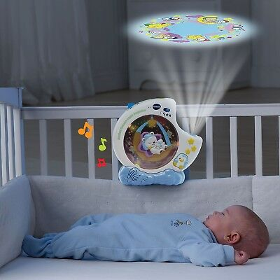 Crib Mobile Projector Baby Good Night Light Sleeping Song With Swinging Bear NEW