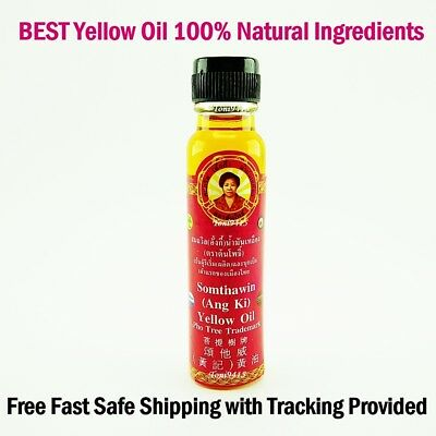 Somthawin Yellow Oil Massage 24cc Muscle Pain Aches Relief Thai Natural Herb