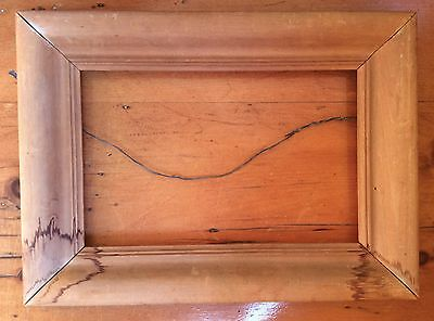"Vintage Wooden Picture Frame, Old, Hand Carved (13 5/8"" x 10"" x 1 1/4"")"