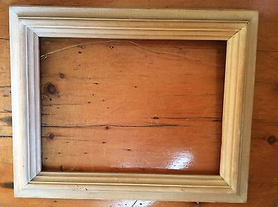 "Vintage Wooden Picture Frame, Old, Hand Carved (15 1/2"" x 12 1/2"" x 1 1/4"")"